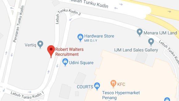 Robert Walters Penang office map